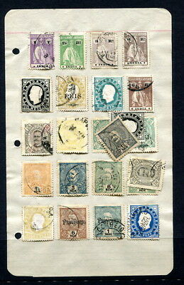 Portuguese India 1898-1913 four pages from old-time collection, 50+ stamps