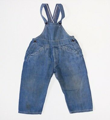 40s 50s Selvedge Denim Overall Bib Vintage Vtg 30s Work Wear Rare Original USA