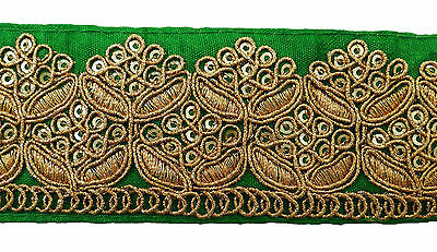 Metallic Embroidered Crafting Lace 4 Cm Wide Supply Sewing Fabric Trim By 1 Yard