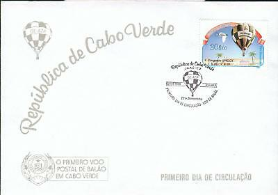 Cape Verde Michel Nr. 558 on FDC balloon Ballon gr52