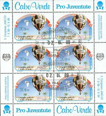 Cape Verde Michel Nr.558 mini sheet FDC o balloon gr53