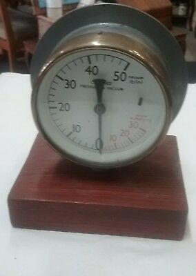 Vintage Ships Brass Engine Room Gauge Maritime Marine Nautical Boat