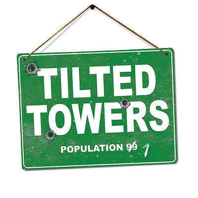 Tilted Towers - Metal Wall Plaque Art Gamer Royale Dusty Map Leaky Shifty Salty