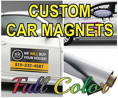 2 12x24 Custom Car Magnets  Magnetic Auto Truck Signs