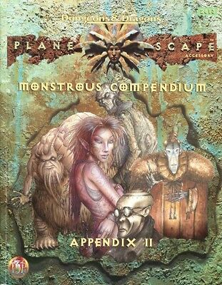 "AD&D 2nd Edition - PLANESCAPE Accessory  ""Monstrous Compendium Appendix II"""