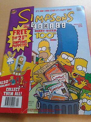 Simpsons comic giant sized 100th issue December 2004, vgc