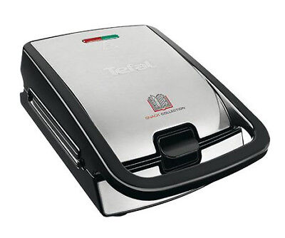 Tefal SW 852 D Snack Collection Multi-Snack-Toaster Waffeleisen sw,Edelstahl