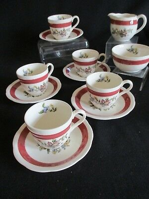 Vintage Crown Ducal Coffee cups and saucers