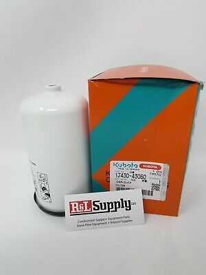 New Genuine Kubota Fuel Filter W/ Separator Part # 1J430-43060