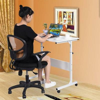 Portable Study Computer Desk With Wheels Adjustable Sofa Bed Side Table Laptop