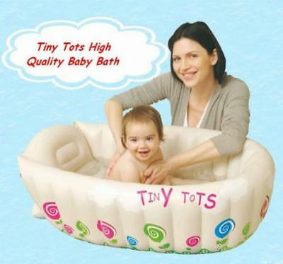 NEW Baby Infant Travel Inflatable Bath Tub Cream Colour - Tiny Tots