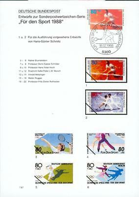Germany Michel Nr. 1354 special FDC sheet Tennis fe33-2