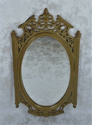 Vintage Syroco Ornate Gold Oval Wall Mirror Hollywood Regency Style Made in USA