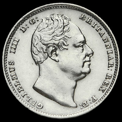 1835 William IV Milled Silver Sixpence, Scarce, EF