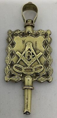 Vintage Rare Masonic Watch Key Also Odd Fellows - Gold & Plate 1800's (V70)