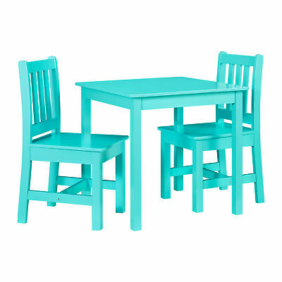 Linon Mdf And Pine Table Chair Set In Teal Finish YT107TEAL01U
