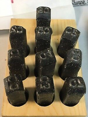 Symbol Set,1//4in H,Gothic,Steel YOUNG BROS STAMP WORKS 06053
