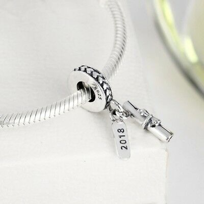 Graduation Scroll Pendant Charm Bead Celebration 925 Genuine Sterling Silver New