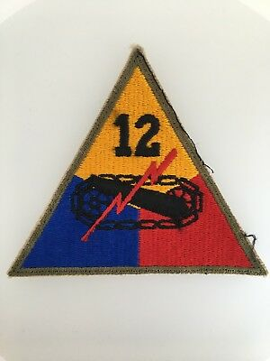 GENUINE America//American WWII U.S Army 5th Armoured Division cloth sleeve patch
