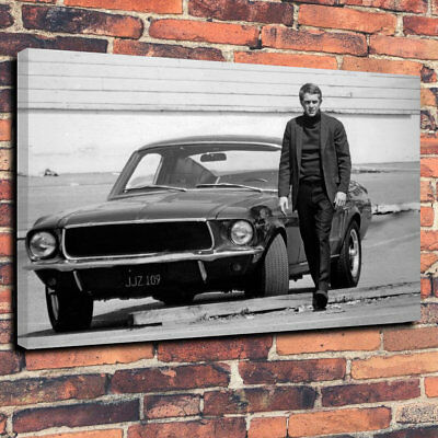 SUPERB STEVE MCQUEEN BULLITT CANVAS #2 QUALITY MOVIE MUSTANG CANVAS PICTURE