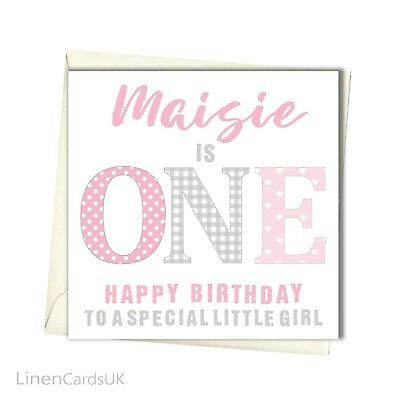 PERSONALISED 1ST BIRTHDAY Card Girl Daughter Granddaughter First Birthday
