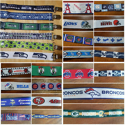 Homemade Pacifier Clips for Pacy, Soothies, Binky, Chewy - Pro Sports Teams!