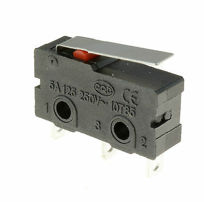 5 x Short Lever Actuator Microswitch SPDT 5A Micro Switch