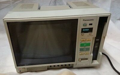 "Vintage Panasonic AG-500R 10"" Portable VHS Color Video Monitor Player *Working*"
