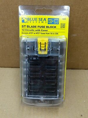 New Blue Seas 5029 B 12 Position Atc Or Ato Fuse Block With Cover Fuse Panel