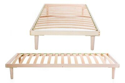 Beech Wood 3ft Single Slatted Bed Frame Orthopedic Base Easy to Assemble Slats