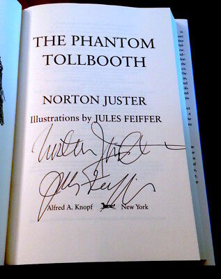 2X SIGNED - THE PHANTOM TOLLBOOTH - Signed by both Norton Juster & Jules Feiffer
