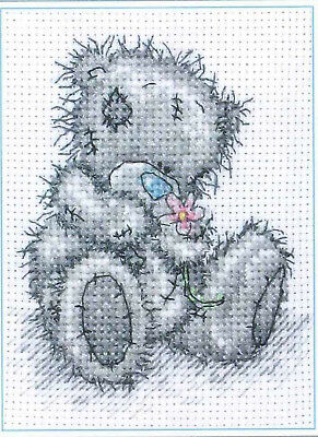 Tatty Teddy Bear A Flower For You cross stitch chart Free Post