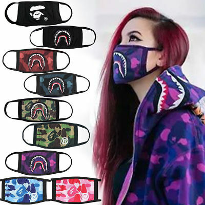 Bape Bathing Ape Face Mask Camo Mouth Mask Fashion Dancer Style Swag UK SELLER