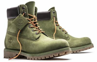 Timberland Men's Premium 6 inch Classic Leather Boots Medium / Olive Green A1M72