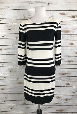 8701d8022a0 FRENCH CONNECTION 3 4 sleeve jersey knit dress size 8 Navy and white stripe