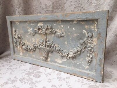 Divine FRENCH Timeworn WEDDING Rose BASKET PLASTER PLAQUE Château ChicTimeworn