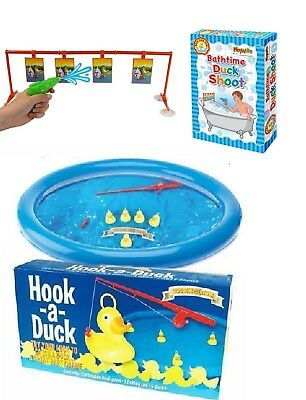 Hook A Duck  A Great Family Party Paddling Pool Game / Bath Time Duck Shoot Game