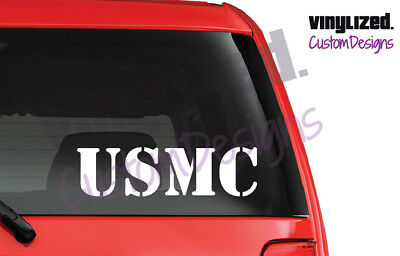 USMC United States Marine Corps Vinyl Decal USA Military Sticker America Proud