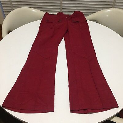 Vintage Wrangler Flares New 70's Burgundy Low Cut American Cotton Size 9