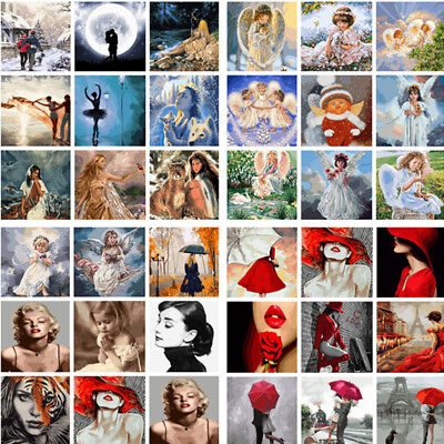 Oil Painting On Canvas Art Decor Paint By Number Kit DIY Acrylic Angel Women Hot