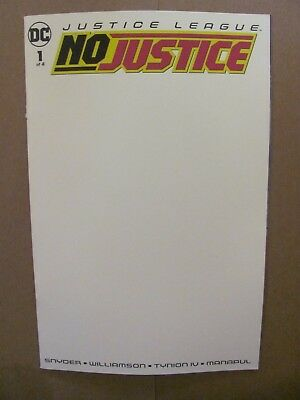 Justice League No Justice #1 DC Universe 2018 Series Blank Variant 9.6 NM+