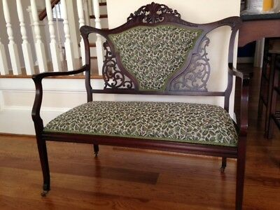 Antique Victorian Settee ~ Love Seat ~ Bench