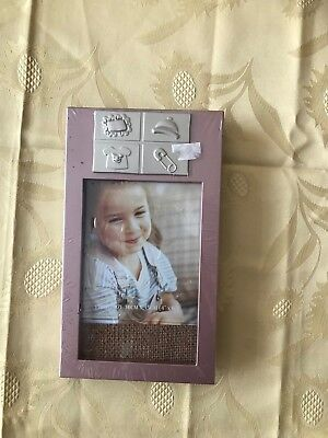 baby girls photo picture frame new sealed.
