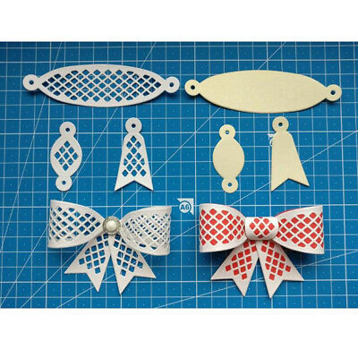 DIY Embossing Cut Stencil 3D Hollow Metal Bowknot Scrapbooking Cutting Die Craft