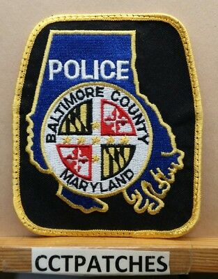 BALTIMORE COUNTY MARYLAND MD white background POLICE PATCH