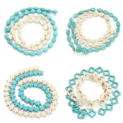 Blue/White Charm Howlite Turquoises Loose Spacer Seed Beads Making Craft Jewelry