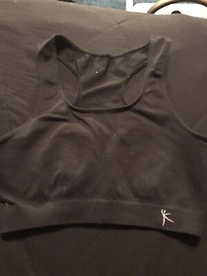 Girls Black Danskin Sports Bra Size Small