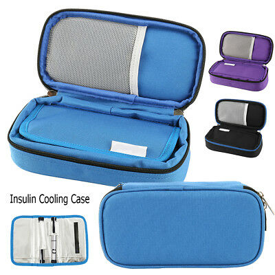 Portable Diabetic Medical Travel Cooler Bag Insulin Cooler Case Pouch 2 ice bags