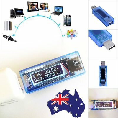 USB Volt Current Power Meter Tester Monitor Reader Phone Tablet Charger G@