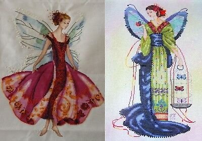 September Sapphire Fairy  - Cross Stitch Chart - FREE POST